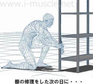 棚の修理で肩の痛みが・・・